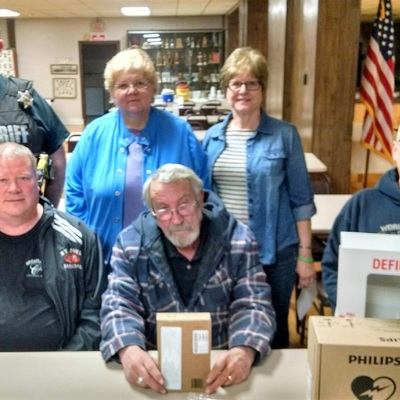 AED presented to Hudson Community Center, Hudson