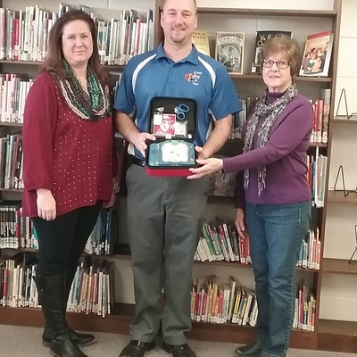 AED presented to Goodman Library, St. John